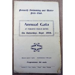 Penarth 1920 Swimming & Water Polo Gala Programme
