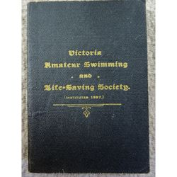 Victoria Amateur Swimming and Life Saving Society Rules c 1910-20