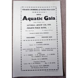 1944 Programme Penarth Aquatic Gala in Support of Cardiff Royal Infirmary