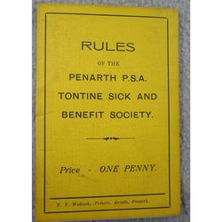 Penarth P.S.A. Tontine Sick and Benefit Society Rules