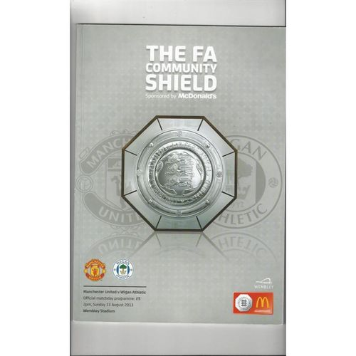 2013 Manchester United v Wigan Athletic Charity Shield Football Programme