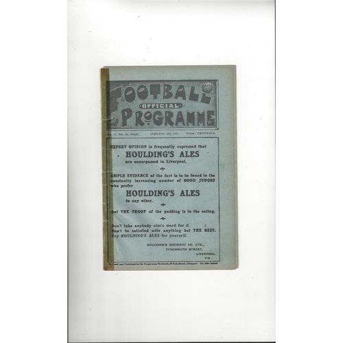 1920/21 Liverpool v Manchester United FA Cup inc's Everton v Stockport FA Cup Double Football Programme