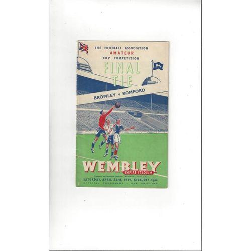 Amateur Cup Final Football Programmes