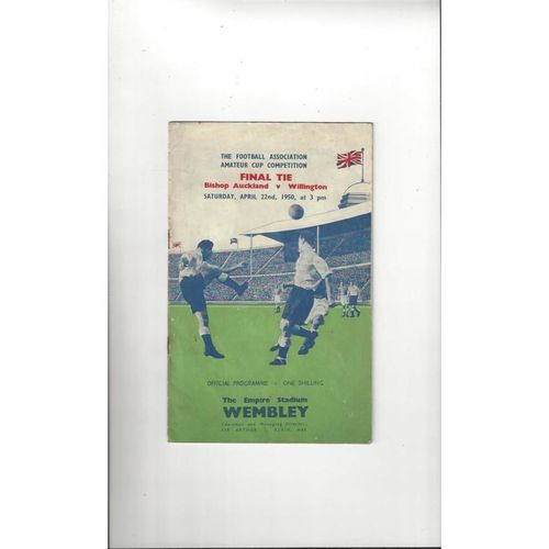 1950 Bishop Auckland v Willington Amateur Cup Final Football Programme
