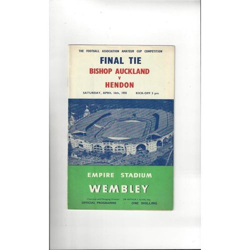 1955 Bishop Auckland v Hendon Amateur Cup Final Football Programme