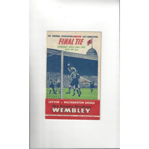 1952 Leyton v Walthamstow Avenue Amateur Cup Final Football Programme