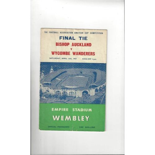 1957 Bishop Auckland v Wycombe Wanderers Amateur Cup Final Football Programme