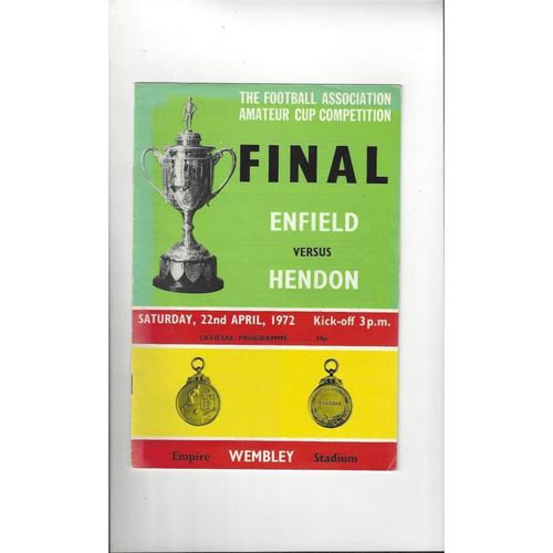 FA Amateur Cup Final Football Programmes