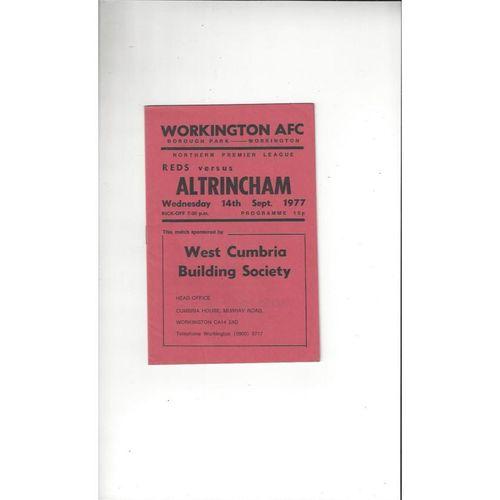 1977/78 Workington v Altrincham Football Programme