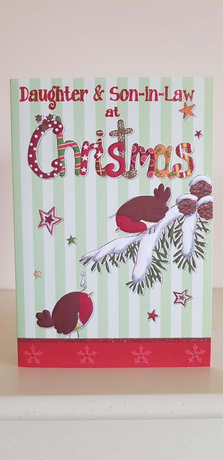 Daughter & Son-in-Law Red Robins Christmas Card | Remember that card ...