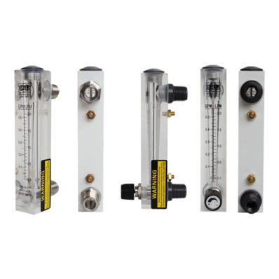 Panel mount flow meters and pressure gauges