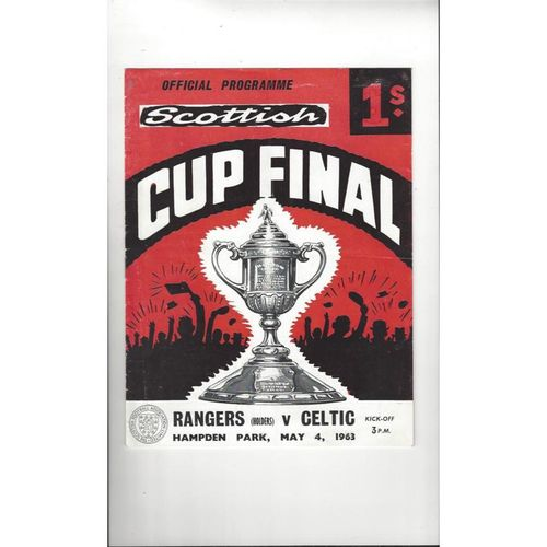 1963 Rangers v Celtic Scottish Cup Final Football Programme