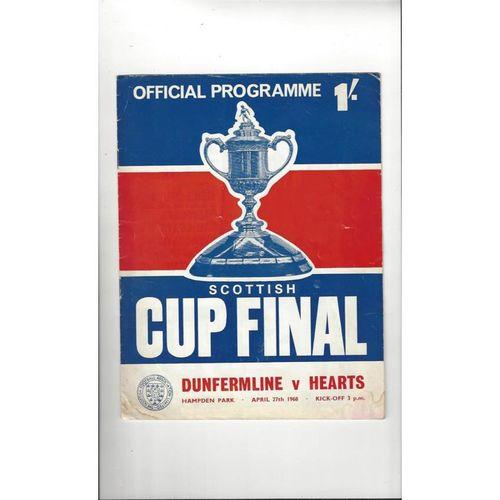 1968 Dunfermline v Hearts Scottish Cup Final Football Programme
