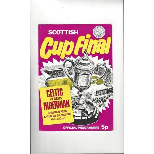 1972 Celtic v Hibernian Scottish Cup Final Football Programme