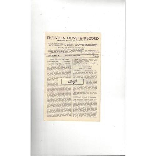 1946/47 Aston Villa v Manchester United Football Programme