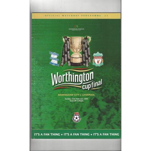 2001 Birmingham City v Liverpool League Cup Final Football Programme