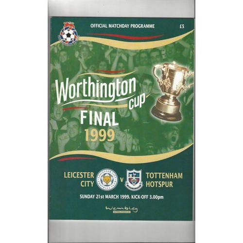 1999 Leicester City v Tottenham Hotspur League Cup Final Football Programme