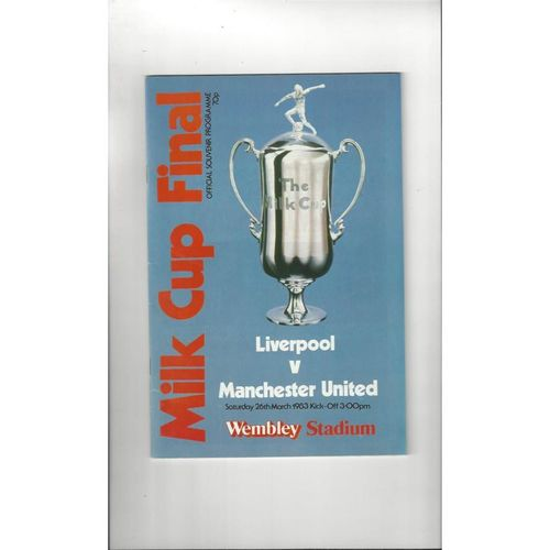 1983 Liverpool v Manchester United League Cup Final Football Programme
