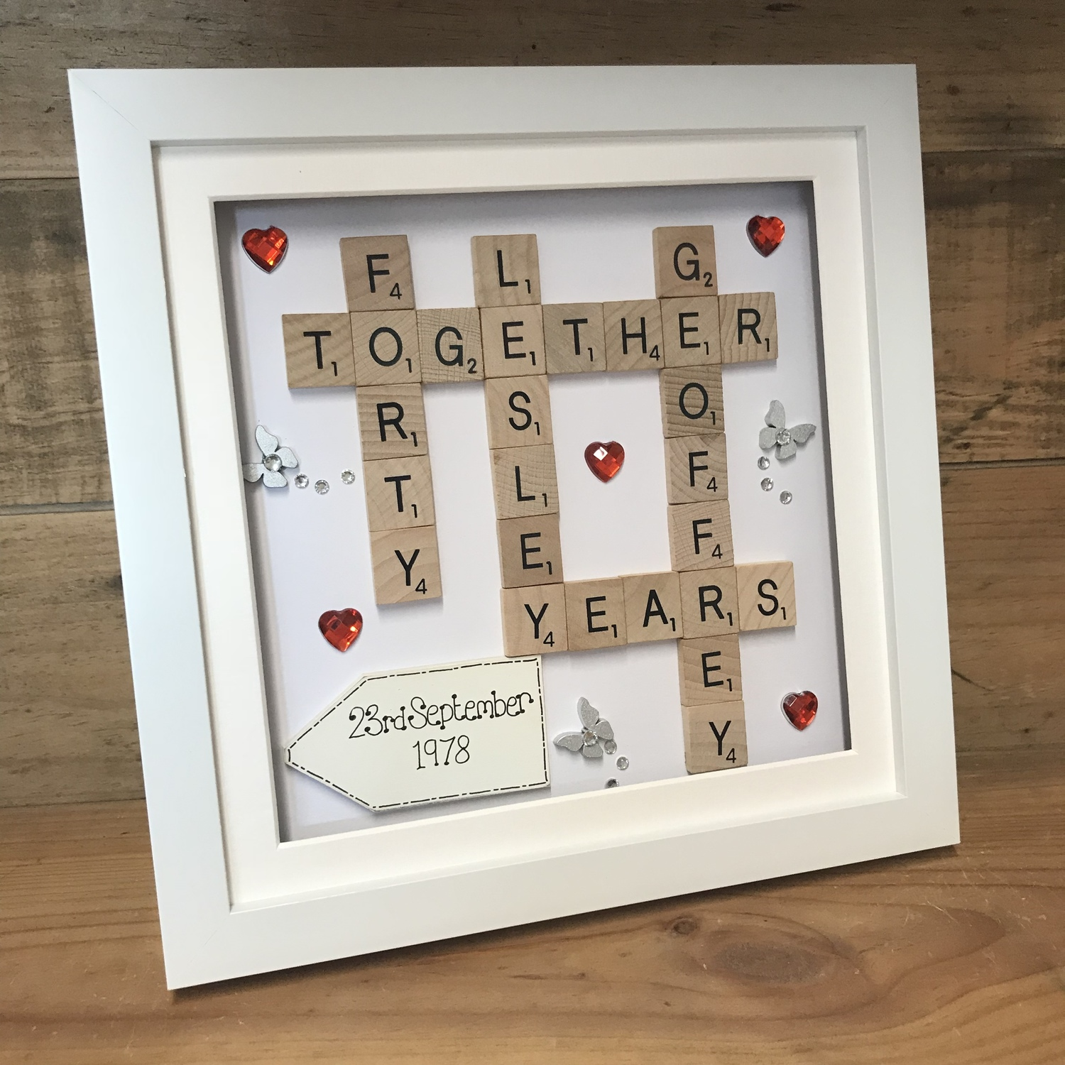 Ruby Wedding Scrabble Word Art Crafty Monkey Unique