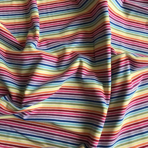 Rainbow Stripes White Jersey