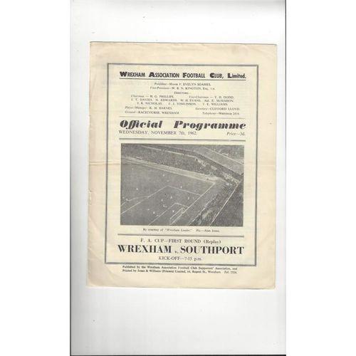 Wrexham Home Football Programmes
