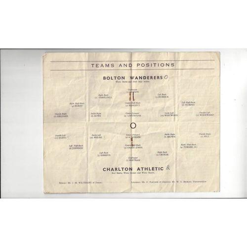 1948 Blackpool v Tottenham Hotspur FA Cup Semi Final Football Programme