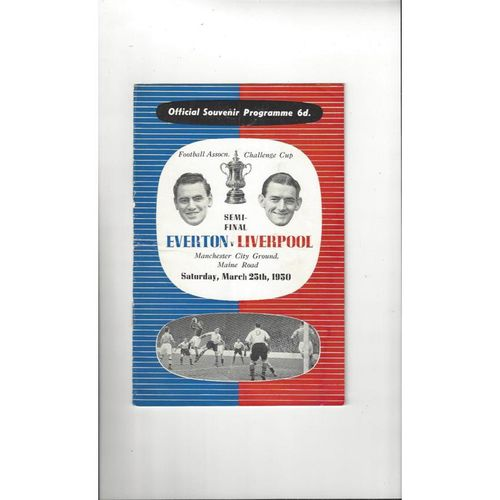 1950 Everton v Liverpool FA Cup Semi Final Football Programme