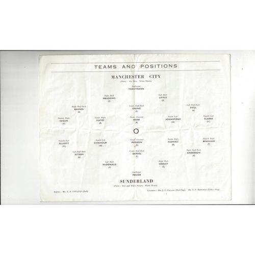 1955 Manchester City v Sunderland FA Cup Semi Final Programme