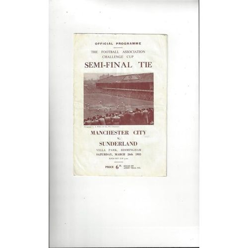 1954 West Bromwich Albion v Port Vale FA Cup Semi Final Football Programme