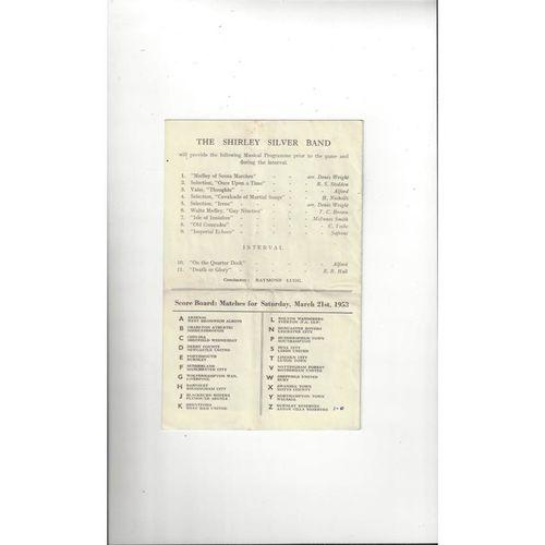 1953 Blackpool v Tottenham Hotspur FA Cup Semi Final Football Programme