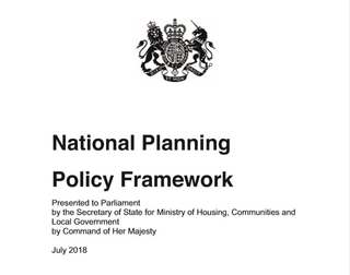 2018 NPPF: Neighbourhood Plans Transitional Arrangements