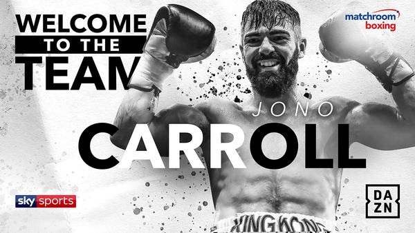 IRISH STAR JONO CARROLL SIGNS WITH MATCHROOM BOXING