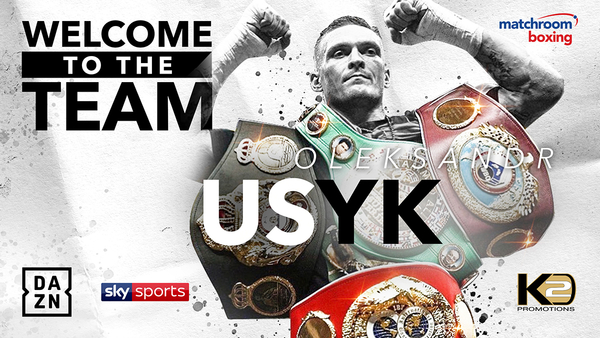 UNDISPUTED CRUISERWEIGHT CHAMPION OLEKSANDR USYK AND K2 PROMOTIONS SIGN MULTI-FIGHT DEAL WITH MATCHROOM BOXING