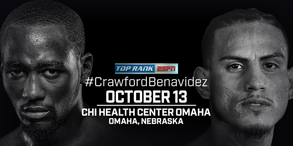 October 13: Welterweight Champion Terence Crawford to Make Hometown Title Defense Against Jose Benavidez Jr. on ESPN