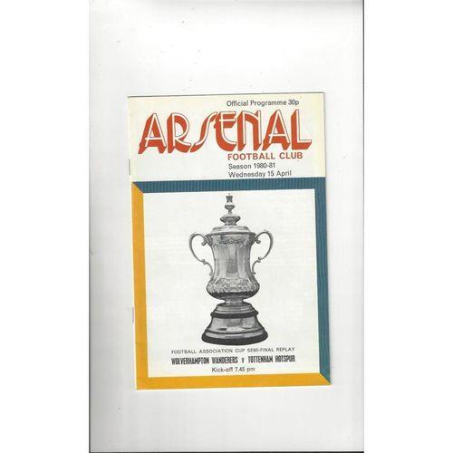 1981 Wolves V Tottenham Hotspur FA Cup Semi Final Replay Football Programme