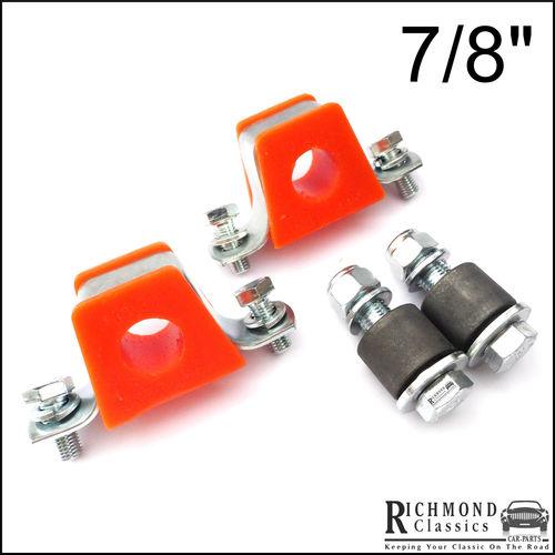 "MGB 7/8"" Anti Roll Bar Orange Polyurethane, Eyelet Bushes Brackets' Kit"