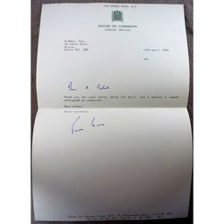 Sir George Young Signed 1989 Letter