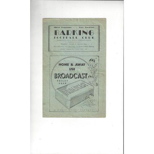 1946/47 Barking v Leytonstone FA Cup Football Programme