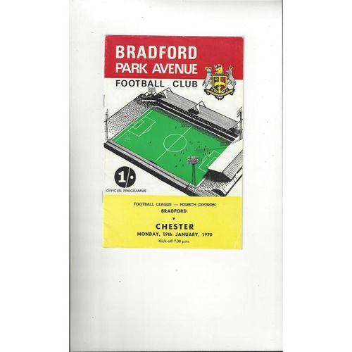 1969/70 Bradford Park Avenue v Chester Football Programme