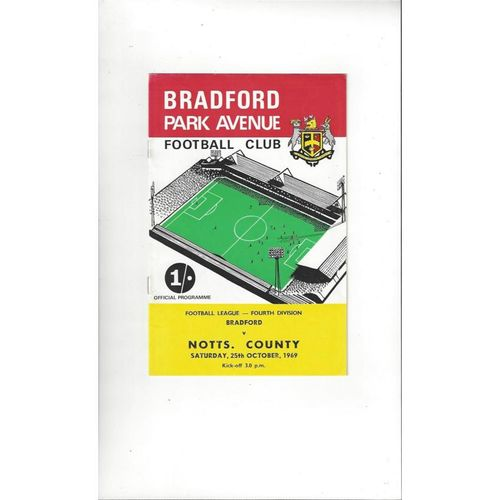 Bradford Park Avenue Home Football Programmes