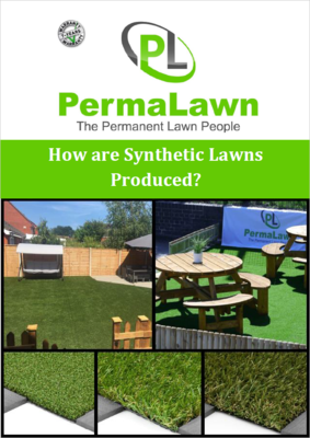 How are synthetic lawns produced