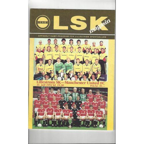 Lillestrom v Manchester United Friendly Football Programme 1992/93
