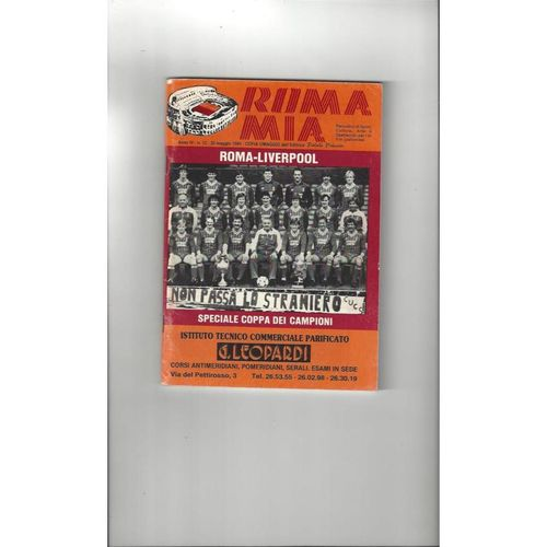1984 Roma v Liverpool European Cup Final Football Programme