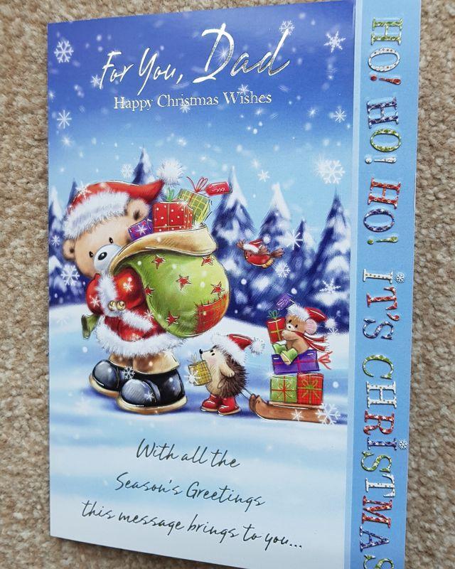 Dad Teddy Bear & Presents Christmas Card | Remember that card ...