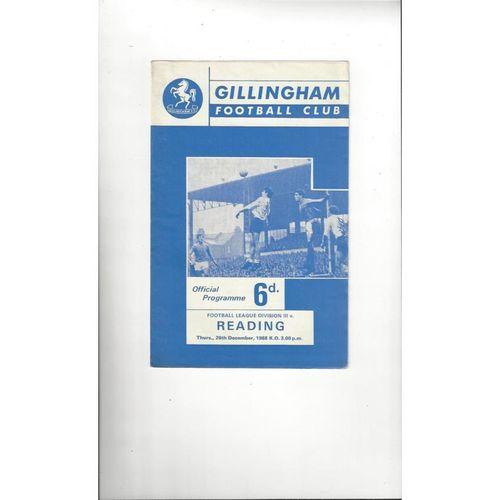 1968/69 Gillingham v Reading Football Programme