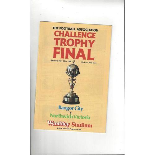 1984 Bangor City v Northwich Victoria Trophy Final Football Programme