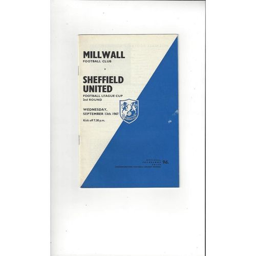 1967/68 Millwall v Sheffield United League Cup + League Review