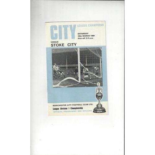 1968/69 Manchester City v Stoke City Football Programme