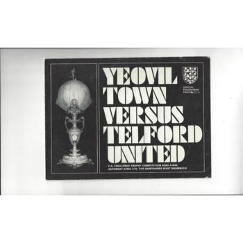 1970/71 Yeovil Town v Telford United Trophy Semi Final Football Programme