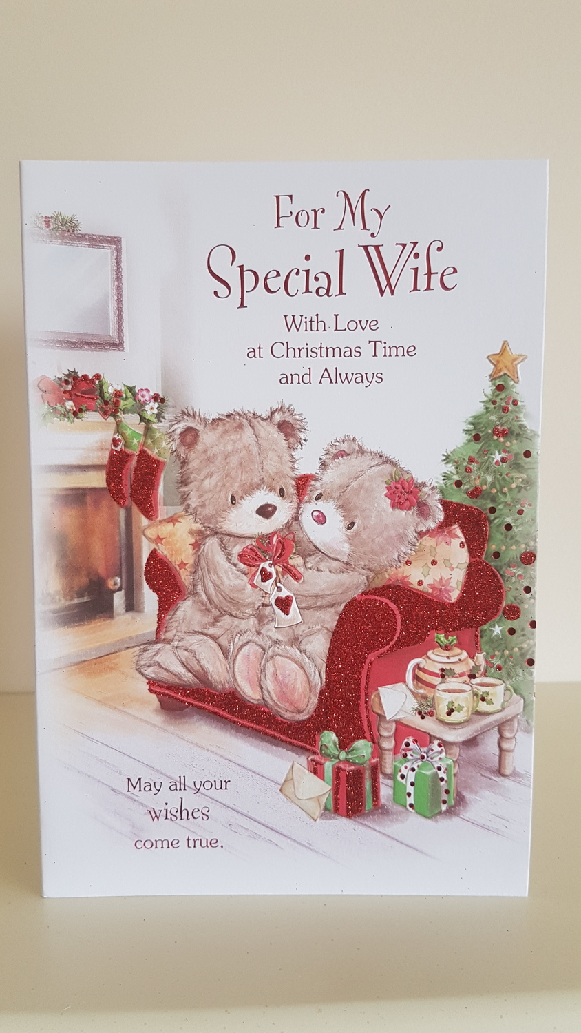 Wife Teddys Presents Christmas Card Remember That Card
